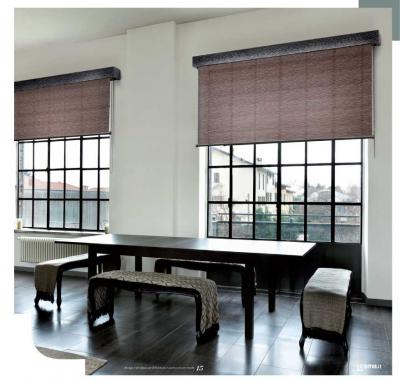 Rulli con mantovane in legno tende da interni a roma - Tende interni prato ...