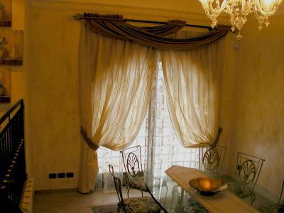 La sala da pranzo tende da interni a roma produzione e - Tende per sala da pranzo ...